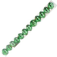 Елочный шар металлический SYLD18-235 зеленый, 12 шт, 4 см