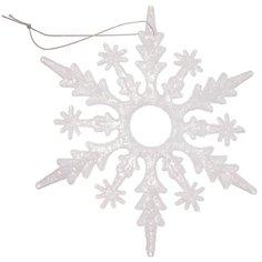 Елочная игрушка Снежинка SYYKLA-191961 белая, 14.7 см