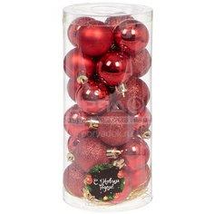 Елочный шар красный SYQD-0119148R, 24 шт, 4 см