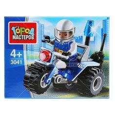Игрушка детская конструктор Полицейский мотоцикл, с фигуркой 278-602, 9х7х4.5 см