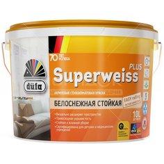 Краска водоэмульсионная DufaRetail Superweiss Plus База1 белая, 10 л