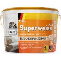 Краска водоэмульсионная DufaRetail Superweiss Plus База1 белая, 2.5 л