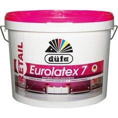 Краска водоэмульсионная DufaRetail Eurolatex интерьерная латексная, 2.5 кг
