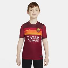 Футбольное джерси для школьников из домашней формы ФК «Рома» 2020/21 Stadium Nike