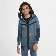 Флисовая худи с молнией во всю длину для мальчиков школьного возраста Nike Sportswear Air Max