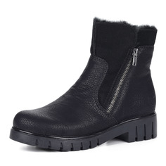 Ботинки Черные ботинки из экокожи на рифленой подошве Rieker