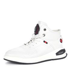 Кроссовки Белые кроссовки из кожи на шнуровке Respect