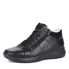 Ботинки Черные ботинки из комбинированных материалов на шерсти Rieker