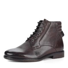 Ботинки Коричневые ботинки из кожи на меху Respect