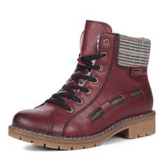 Ботинки Бордовые ботинки на шнуровке из экокожи Rieker