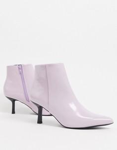 Фиолетовые ботинки на фасонном каблуке и с острым носком ASOS DESIGN Reunite-Синий