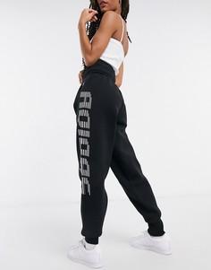 Черные трикотажные джоггеры с логотипом adidas Training-Черный