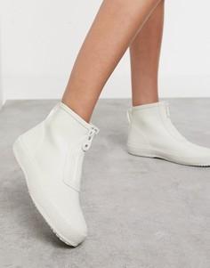 Короткие резиновые сапоги кремового цвета Vero Moda-Белый