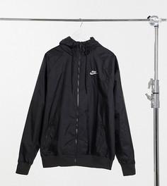 Черная куртка из тканого материала Nike Tall Heritage Essentials Windrunner-Черный
