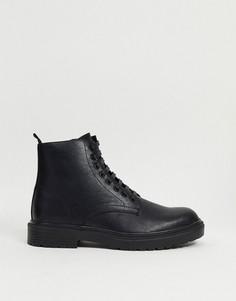 Черные ботинки Topman-Черный
