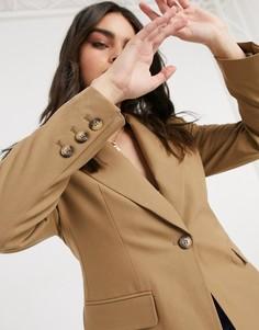 Строгий пиджак светло-коричневого цвета Selected Femme-Светло-коричневый