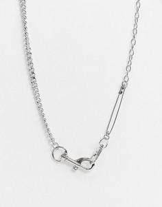 Ожерелье с английской булавкой SVNX-Серебряный 7X