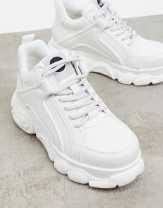 Белые кроссовки на низкой платформе Buffalo Vegan Corin-Белый