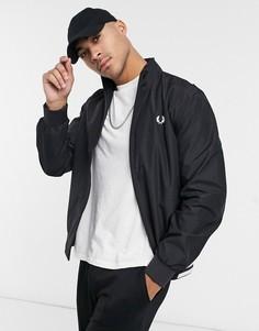 Черная куртка с воротником-трубой Fred Perry-Черный