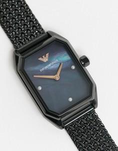 Наручные часы с черным сетчатым браслетом Armani-Черный