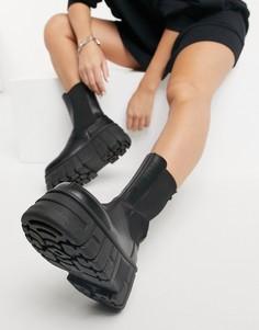 Черные ботинки челси на массивной подошве ASOS DESIGN Aliyah-Черный