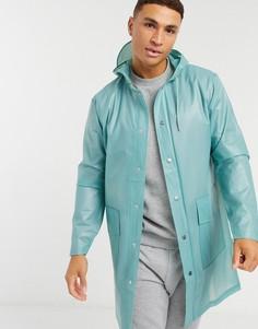 Прозрачный дождевик с капюшоном Rains-Зеленый