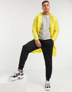 Прозрачный дождевик с капюшоном Rains-Желтый
