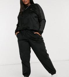 Черные вельветовые джоггеры с манжетами adidas Originals Comfy Cords-Черный