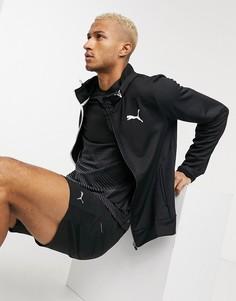 Худи черного цвета на молнии Puma Training-Черный