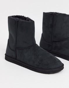 Черные ботинки-слиперы ASOS DESIGN-Черный