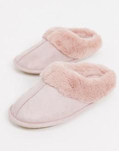 Светло-розовые слиперы с закрытым носком Accessorize-Розовый
