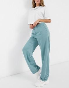 Спортивные штаны из джерси синего выбеленного цвета ASOS DESIGN-Синий