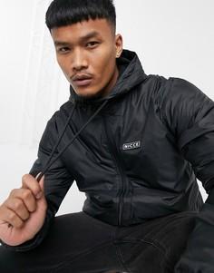 Черная куртка-дождевик с подкладкой из флиса Nicce-Черный
