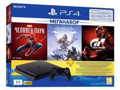 Игровая приставка Sony PlayStation 4 Slim 1Tb CUH-2208B + Gran Turismo Sport + Horizon Zero Dawn CE + Spider-man + PS Plus 3 месяца PS719391302 Выгодный набор + серт. 200Р!!!