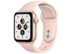 Умные часы APPLE Watch SE 40mm Gold Aluminium Case with Pink Sand Sport Band MYDN2RU/A Выгодный набор + серт. 200Р!!!