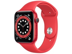Умные часы APPLE Watch Series 6 44mm Red Aluminium Case with Red Sport Band M00M3RU/A