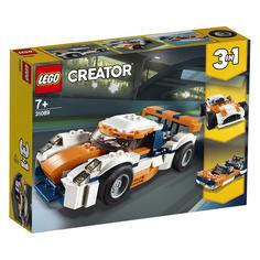 Конструктор LEGO Creator Оранжевый гоночный автомобиль, для мальчиков, 31089