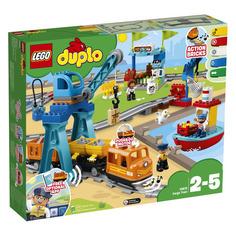Конструктор LEGO Duplo Грузовой поезд, для мальчиков и девочек, 10875