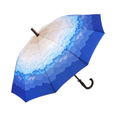 Зонт-трость Sima женский Горы бежевый, синий