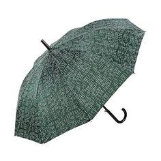Зонт-трость Sima женский Чёрточки зелёный