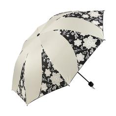 Зонт механический Sima женский Цветочный орнамент 3 сложения