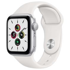 Смарт-часы Apple Watch SE 44mm Silver Aluminum Case with White Sport Band (MYDQ2RU/A)