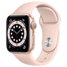 Смарт-часы Apple Watch S6 44mm Gold Aluminum Case with Pink Sand Sport Band (M00E3RU/A)