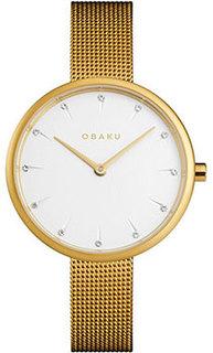 fashion наручные женские часы Obaku V233LXGIMG. Коллекция Mesh