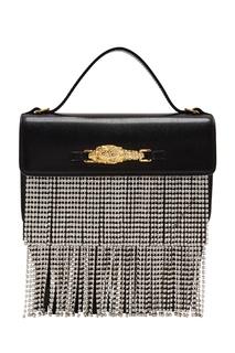 Черная сумка с кристальным декором Gucci