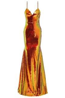 Вечернее платье с пайетками Alex Perry