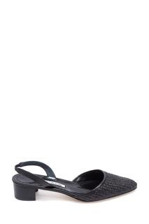 Черные туфли из рафии Raffro Rafia 30 Manolo Blahnik