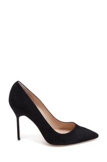 Черные замшевые туфли BB Suede 105 Manolo Blahnik