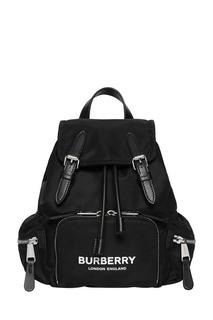 Черный рюкзак с ремешками Burberry