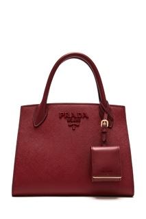 Бордовая сумка Monochrome Prada